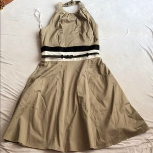 Calvin Klein beige / tan halter dress